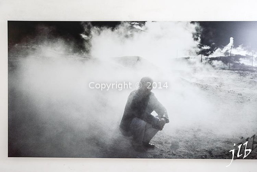 Nan Goldin - Bruce in the smoke, Solfatara, Pozzuoli, Italy-1