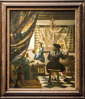 Johannes Vermeer - The art of painting-2