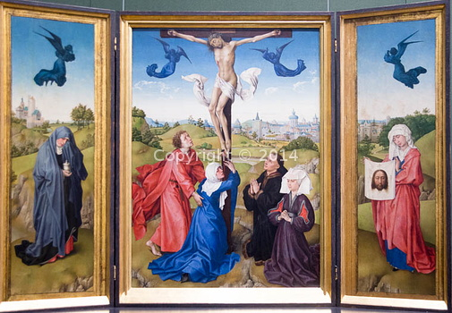 Rogier van  der Weyden - La crucifiction-2