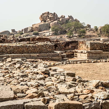 BASEMENT OF KING'S PALACE- HAMPI-1