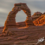 Arches sunset